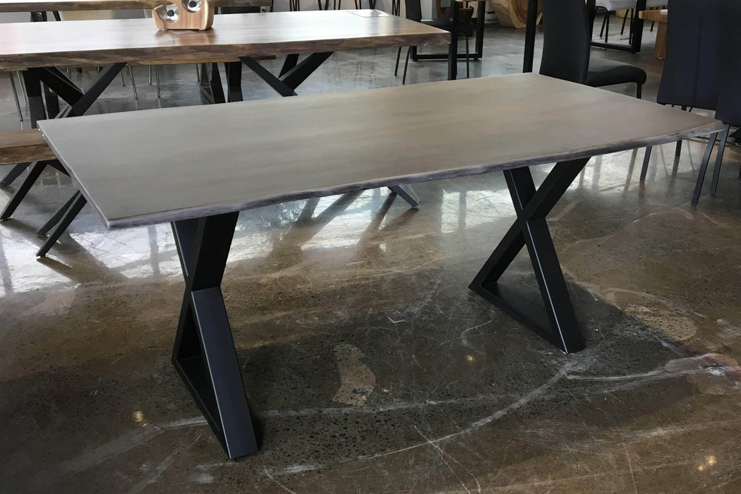"Corcoran Table Grey Acacia 67"" Live Edge Acacia Table - Available with 4 Wood Types"