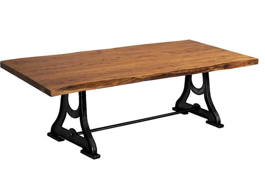 "Corcoran Table Industrial Legs 96"" Live Edge Acacia Table - Available with 8 Leg Styles"