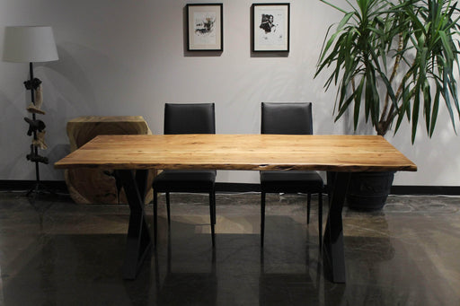 "Pending - Corcoran Table Live Edge Acacia Table L 80"" - Available with 4 Leg Styles"