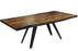 "Corcoran Table Rocket Legs 72"" Live Edge Grey Sheesham Table - Available with 6 Leg Styles"