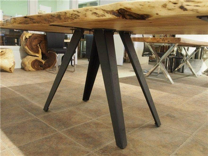 "Corcoran Table Rocket Legs 72"" Live Edge  Sheesham Table - Available with 6 Leg Styles"