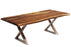 "Corcoran Table Stainless X Legs 84"" Live Edge Sheesham Table - Available with 8 Leg Styles"
