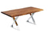 "Pending - Corcoran Table Stainless X Legs Live Edge Acacia Table L 72"" - Available with 6 Leg Styles"