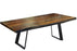 "Corcoran Table Victor Legs 72"" Live Edge Grey Sheesham Table - Available with 6 Leg Styles"