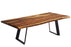 "Corcoran Table Victor Legs 84"" Live Edge Sheesham Table - Available with 8 Leg Styles"