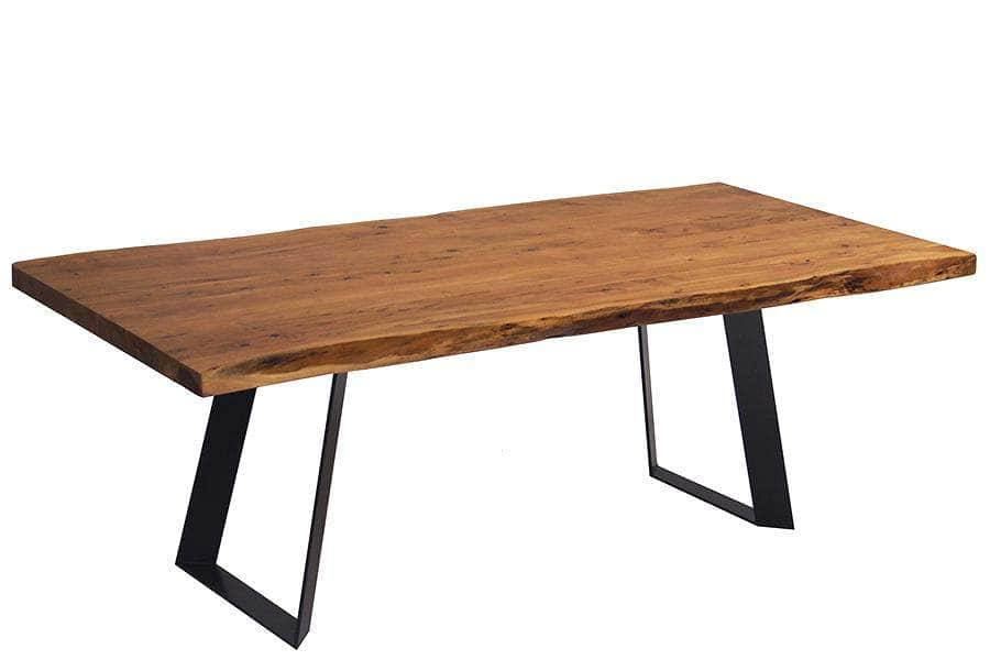 "Corcoran Table Victor Legs 96"" Live Edge Acacia Table - Available with 8 Leg Styles"