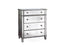 Danielle Mirrored 4-Drawer Chest - Silver