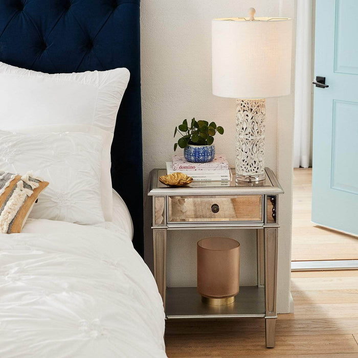 Pending - Danielle Nightstand Danielle Nightstand - Silver