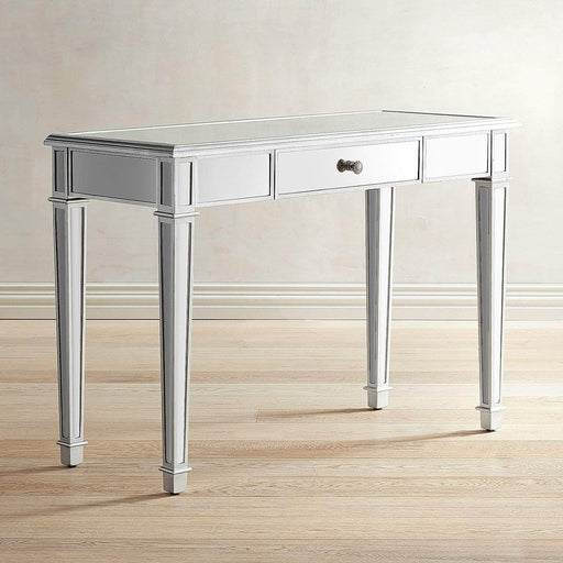Danielle Mirrored Vanity Desk - Silver
