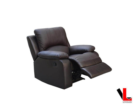Pending - Levoluxe William Reclining Leather Match Chair - Available in 2 Colours