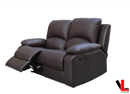 Pending - Levoluxe William Reclining Leather Match Loveseat - Available in 2 Colours