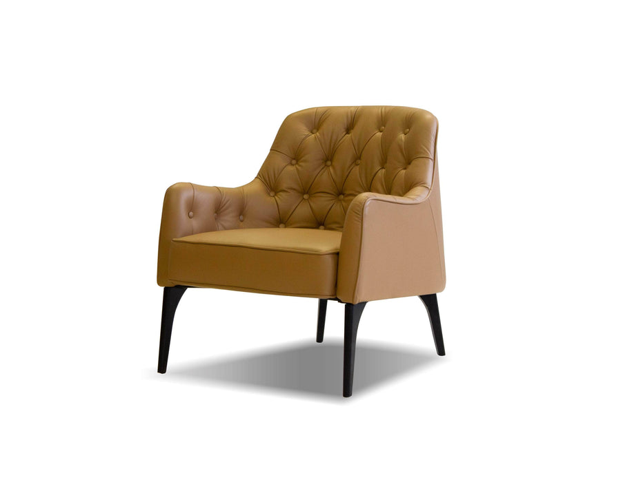 Pending - Mobital Arm Chair Caramel / Leather Ellington Arm Chair With Black Wood Legs - Multiple Options Available