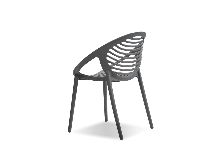 Mobital Arm Chair Gravely Polypropylene Arm Chair Set Of 4 - Available in 2 Colours
