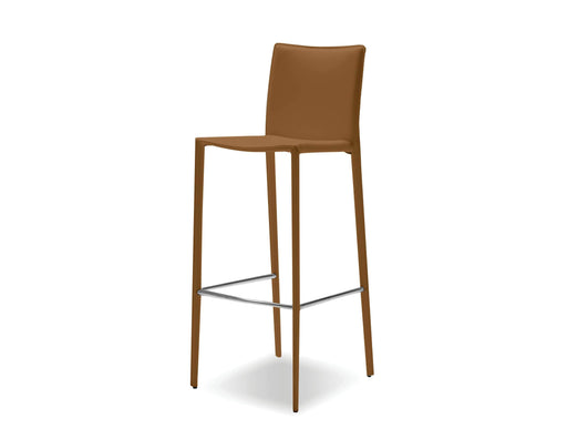 Mobital Bar Stool Caramel Zak Full Leather Wrap Bar Stool Set Of 2 - Available in 3 Colours