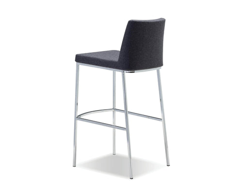 Mobital Bar Stool Dark Grey Weston  Bar Stool Dark Grey Cashmere With Chrome Frame Set Of 2