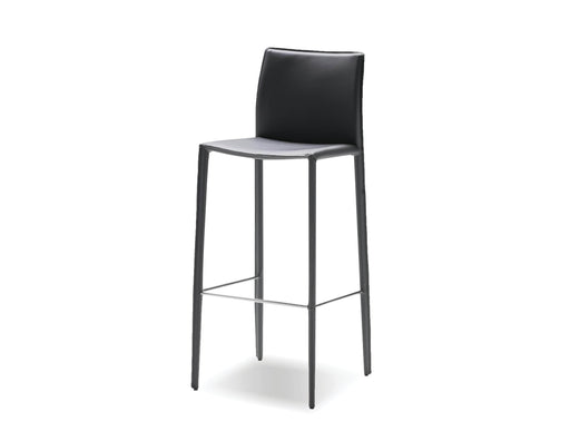 Mobital Bar Stool Grey Zak Full Leather Wrap Bar Stool Set Of 2 - Available in 3 Colours