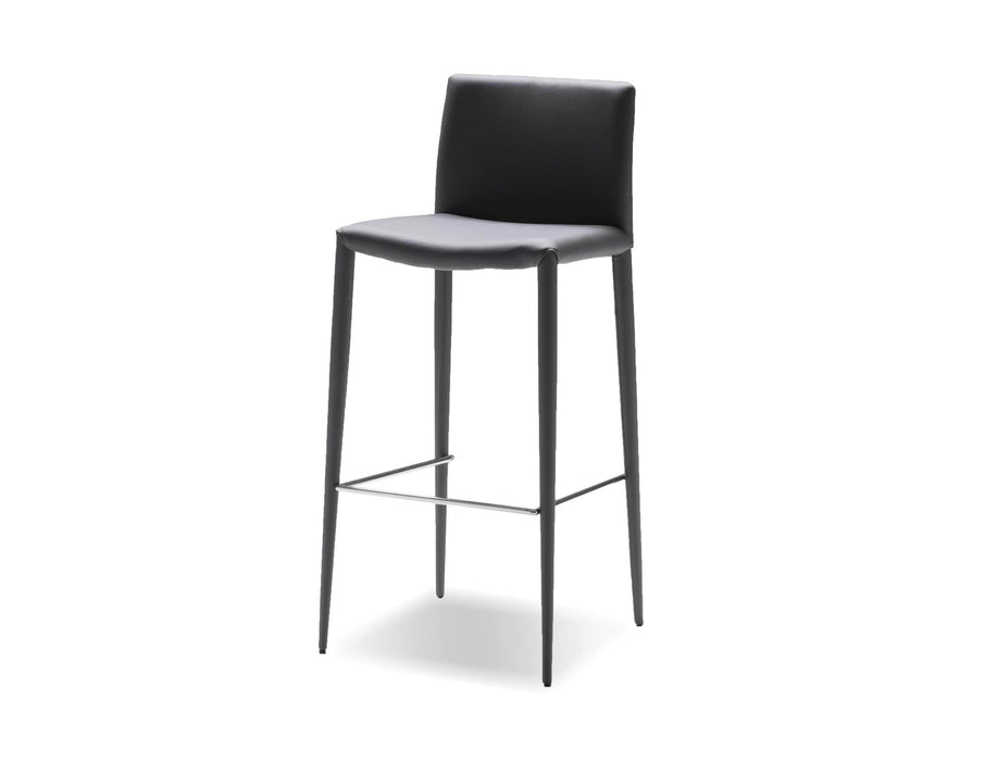 Pending - Mobital Bar Stool Grey Zeno Full Leatherette Wrap Bar Stool Set Of 2 - Available in 3 Colours