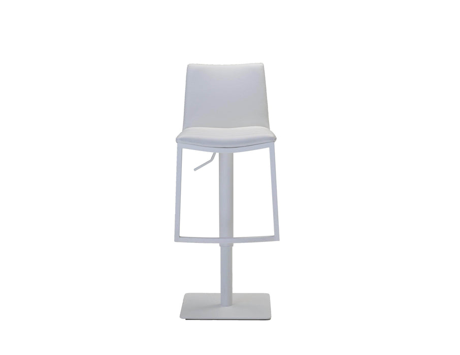 Mobital Bar Stool White Frame Raven Hydraulic Leatherette Bar Stool - Available in 2 Colours