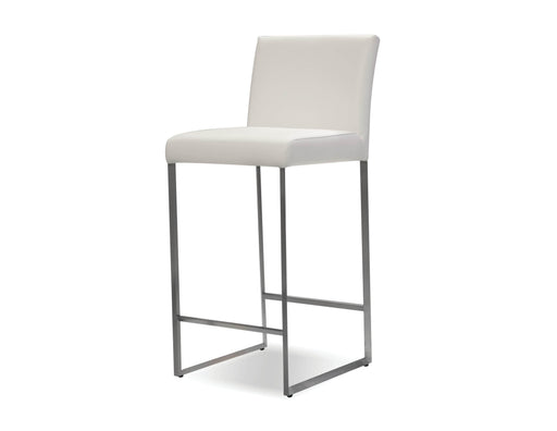 Pending - Mobital Bar Stool White Tate Leatherette Bar Stool Black - Available in 3 Colours