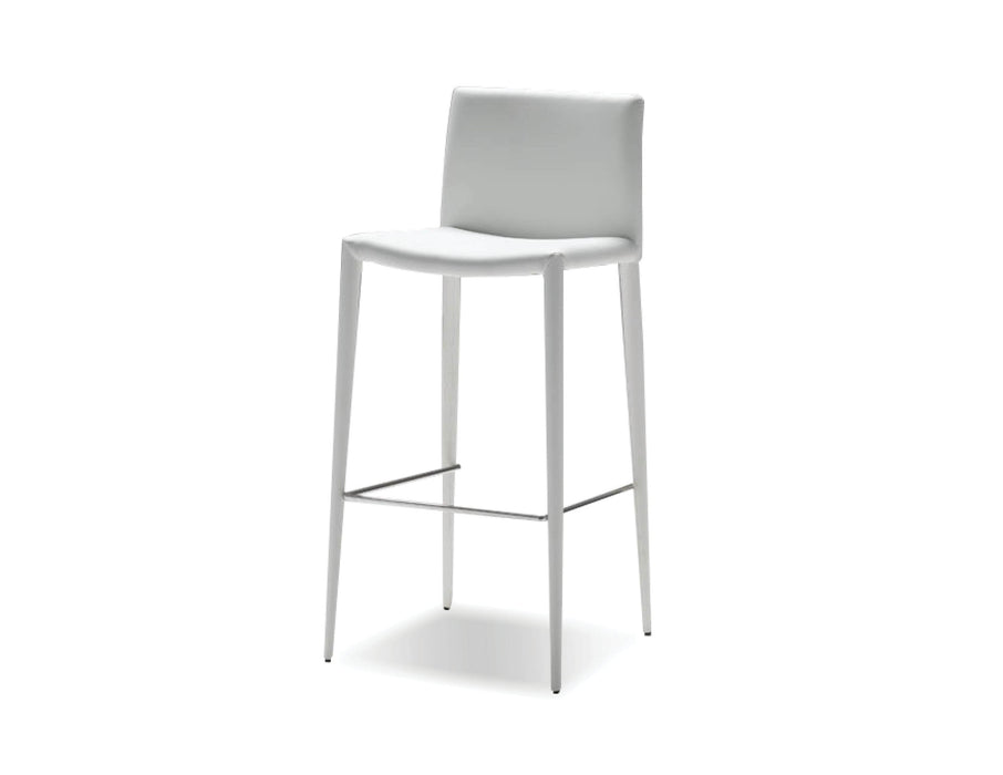 Pending - Mobital Bar Stool White Zeno Full Leatherette Wrap Bar Stool Set Of 2 - Available in 3 Colours