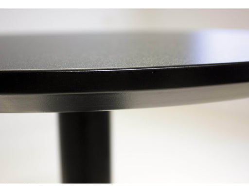 "Mobital Bar Table Black Half Pint 23.50"" Diameter Bar Table Black Mdf Top With Black Powder Coated Steel Frame"