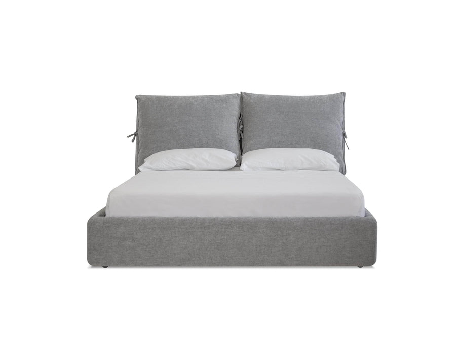 Mobital Bed Heather Grey Chenille / Queen Plume Queen Bed - Available in 2 Colours and Sizes