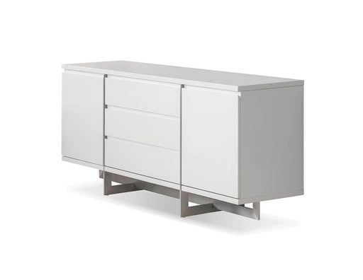 Mobital Remi Buffet with Brushed Stainless Steel