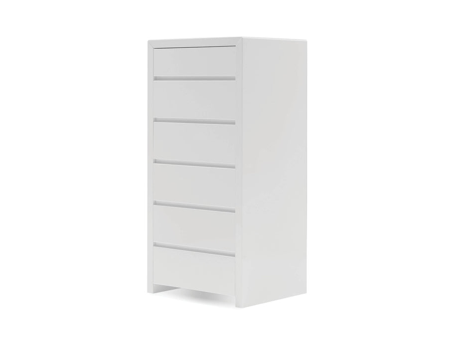 Mobital Chest High Gloss White Blanche 6-Drawer Chest - Available in 2 Colours
