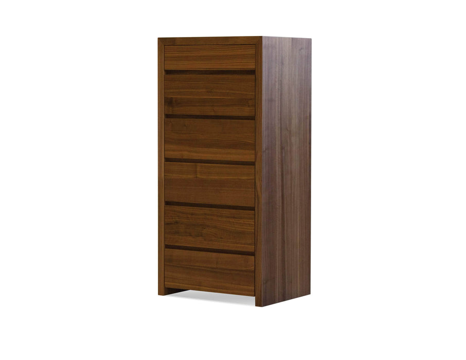 Mobital Chest Natural Walnut Blanche 6-Drawer Chest - Available in 2 Colours