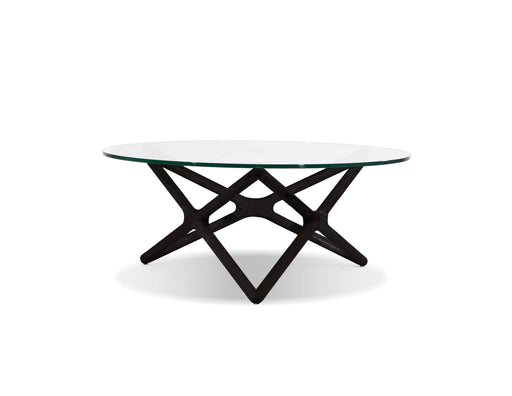 Mobital Coffee Table Black Quasar Coffee Table Clear Glass - Available in 2 Colours