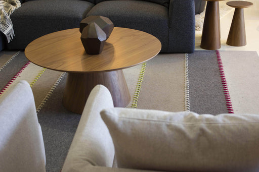 Mobital Tower Round Coffee Table in Natural Walnut