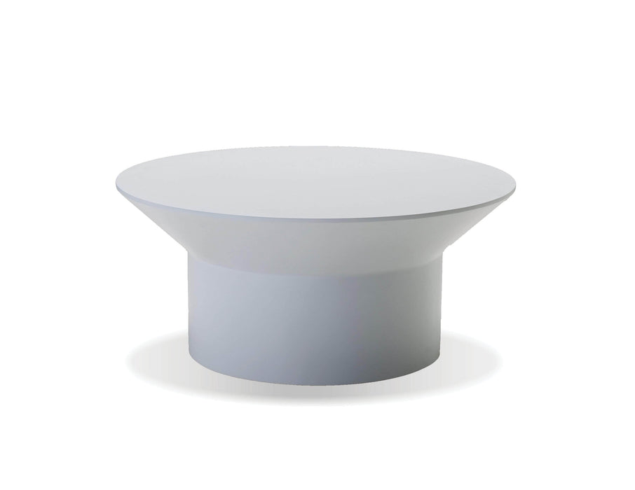 "Mobital Coffee Table White Boracay 36"" Diameter Round Coffee Table - Available in 2 Colours"