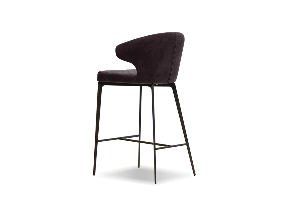 Mobital Counter Stool Black Hug Counter Stool Black With Black Powder Coated Steel
