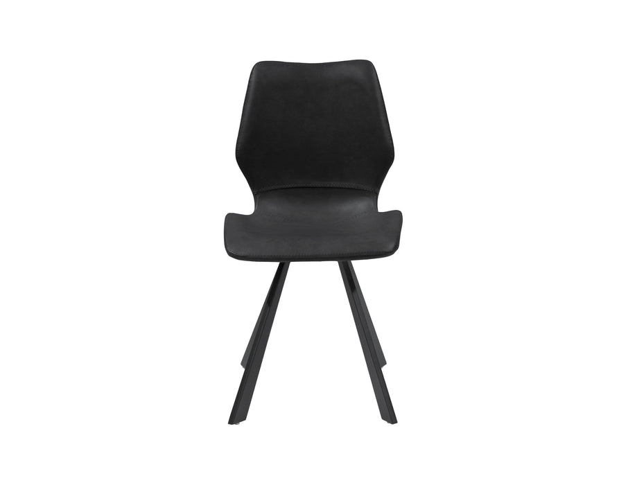 Mobital Dining Chair Bernadette Leatherette Dining Chair With Black Powder Coated Metal Set Of 2 - Available in 2 Colours