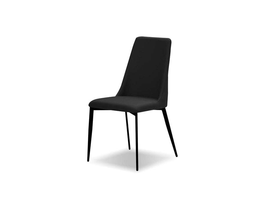 Mobital Dining Chair Black Seville Dining Chair With Matte Black Legs Set Of 2 - Available in 2 Colours