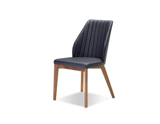 Mobital Totem Leatherette Dining Chair with Ash Wood (Set of 2)