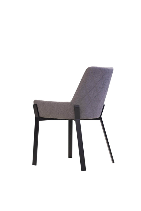 Mobital Dining Chair Dark Grey Benson Dining Chair Dark Grey Fabric With Black Powder Coated Metal Frame Set Of 2