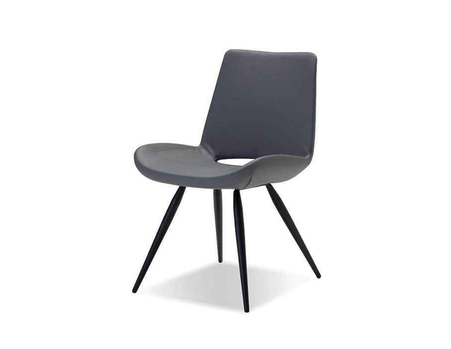 Mobital Dining Chair Grey Leatherette Willam Upholstered Dining Chair With Powder Coated Legs Set Of 2 - Available in 2 Options