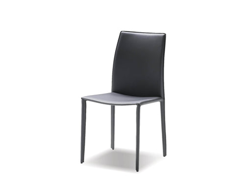Mobital Dining Chair Grey Zak Full Leather Wrap Dining Chair Set Of 2 - Available in 3 Colours