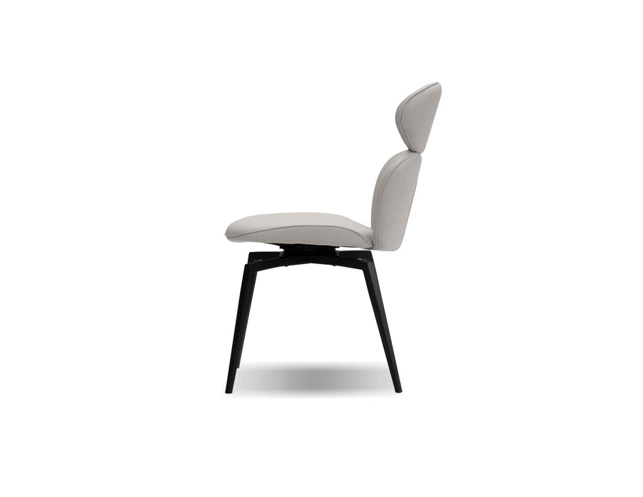 Mobital Dining Chair Light Taupe Antler Dining Chair Light Taupe Leatherette, Black Powder Coated Legs Set Of 2