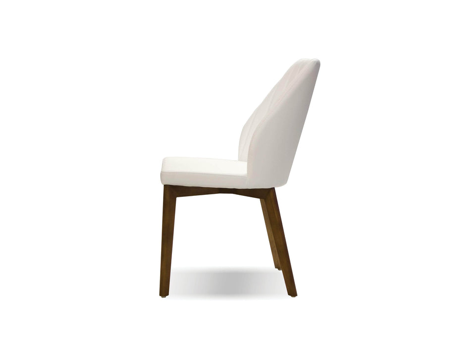 Pending - Mobital Dining Chair Totem Leatherette  Dining Chair With Ash Wood Set Of 2 - Available in 2 Colours