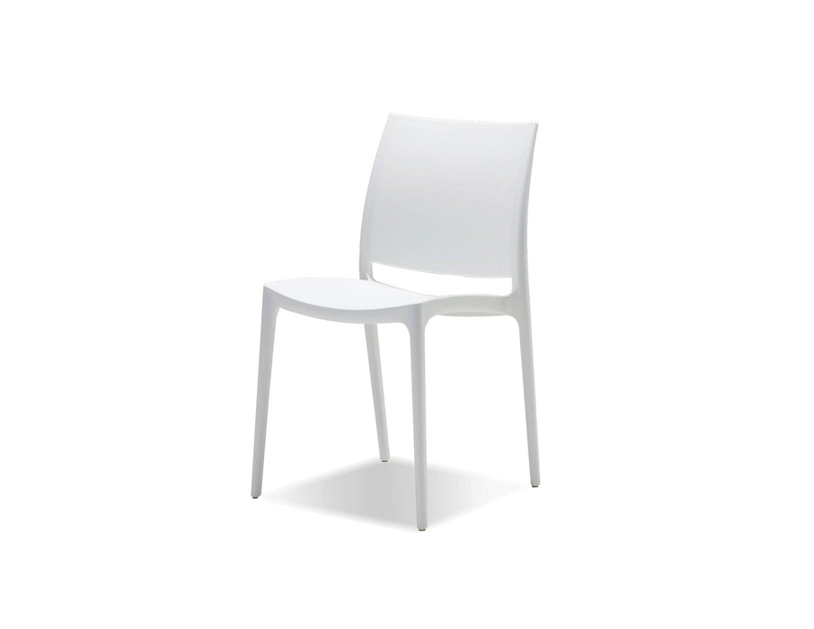 Mobital Dining Chair White Vata Polypropylene Dining Chair Set Of 4 - Available in 2 Colours