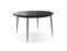 Mobital Kaii Round Dining Table with Black Marble Top and Black Iron Legs