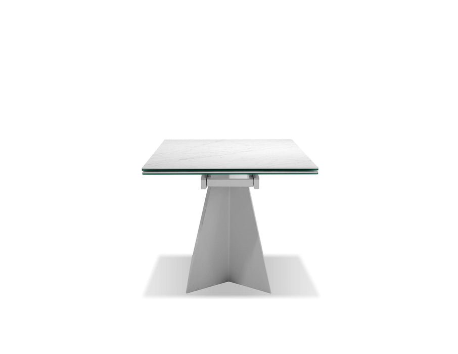 "Mobital Dining Table Carerra Origami 98.50"" Long Extending Dining Table Carerra Ceramic Top"