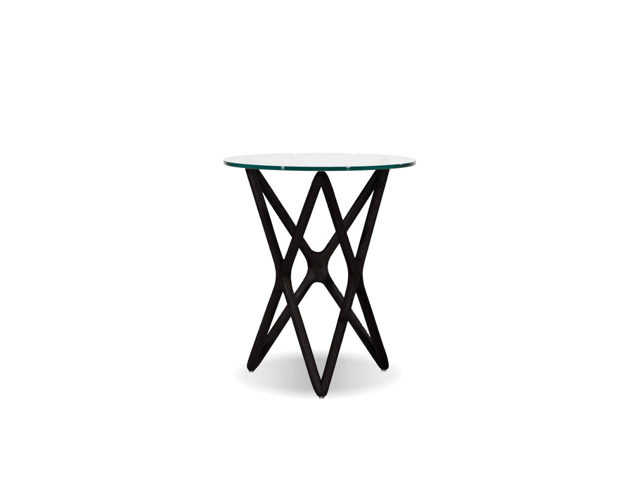 "Mobital End Table Black Quasar 22"" Tall End Table Clear Glass  - Available in 2 Colours"