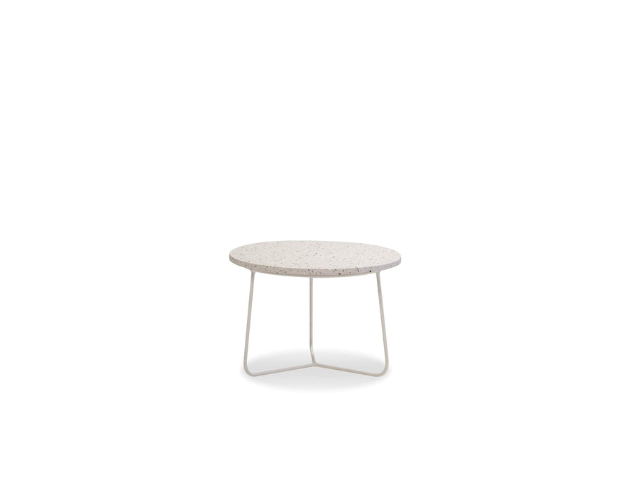 Mobital End Table White / Low Rizzo End Table White Terrazo Marble With White Base - Available in 3 Sizes