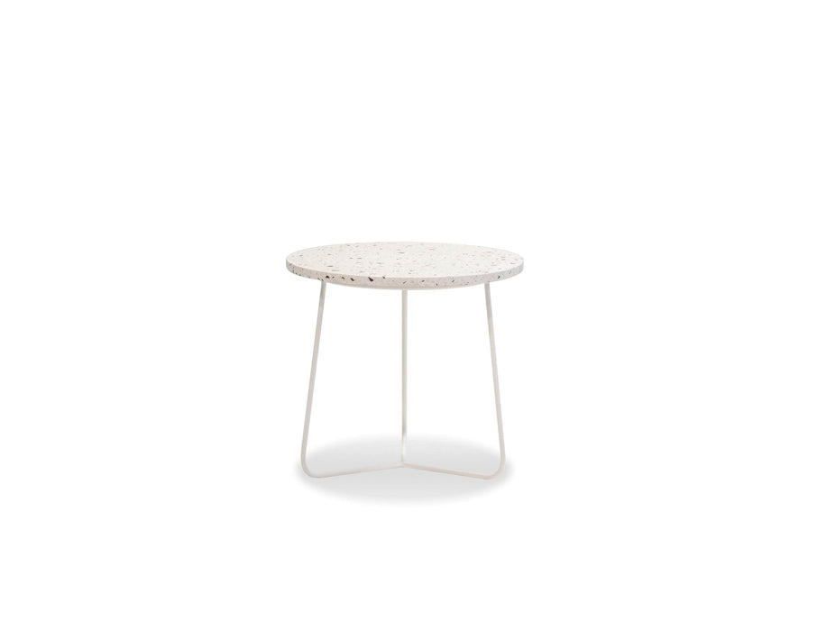 Mobital End Table White / Medium Rizzo End Table White Terrazo Marble With White Base - Available in 3 Sizes