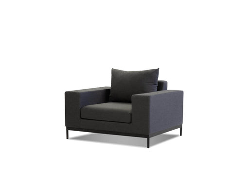Mobital Jericho Lounge Chair in Sunbrella Charcoal Grey Fabric with Black Frame