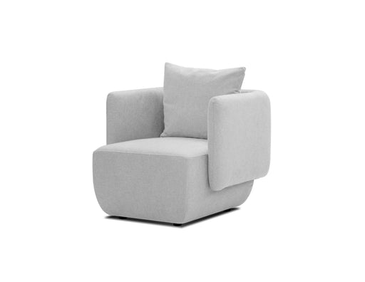 Mobital Probe Lounge Chair with Arms in Heather Grey Chenille