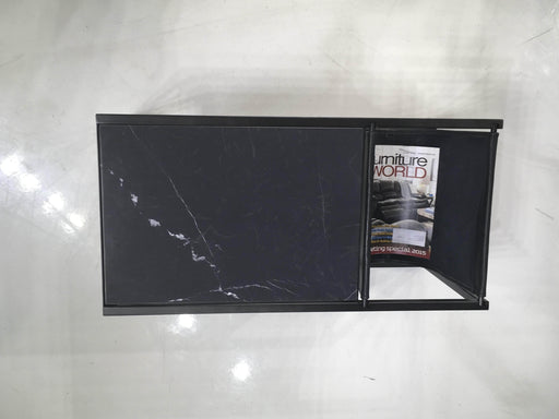 Mobital Magazine Rack Black Reception Magazine Rack Black Leather Sling And Black Nero Marquina Marble With Black Steel